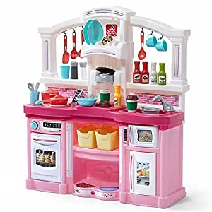 step2 488399 fun with friends kids play kitchen large pink toys games. Black Bedroom Furniture Sets. Home Design Ideas