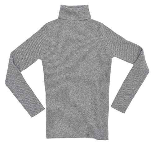 State Cashmere Women's 100% Pure Cashmere Long Sleeve Pullover Ribbed Turtleneck Sweater Heather Grey XL by State Cashmere (Image #5)