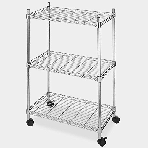 Rolling File Cart Organizer Rails Open Rolling Metal Mobile Large Home Storage Laundry Office Tall & eBook by MSS by STS SUPPLIES LTD