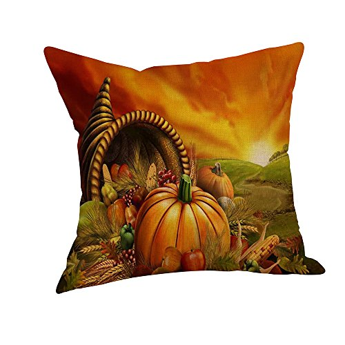 Kehen Easter Decorative Pillow Covers Cotton Linen Burlap Square Cushion Throw Pillow Covers Rabbit Bunny