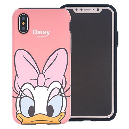 093d7762c1 iPhone XS Max ケース Disney Daisy Duck ディズニー デイジーダック ダブル バンパー ケース/二層