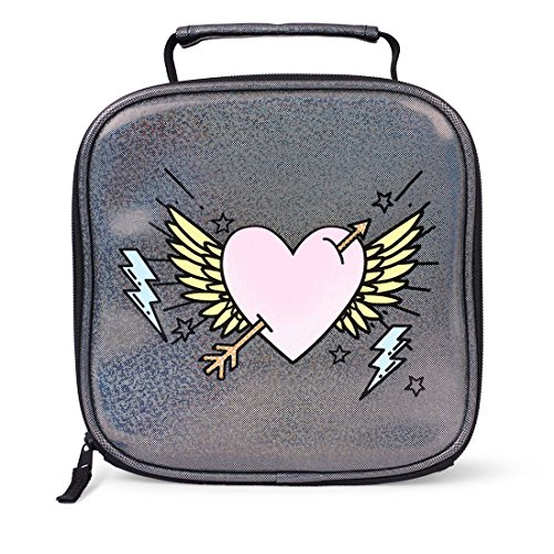 The Children's Place Big Girls' Lunch Box Set, Gunmetal 01342, NO Size