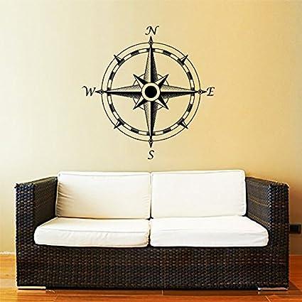 Amazon.com: Compass Wall Decal Nautical Compass Rose Navigate Vinyl ...