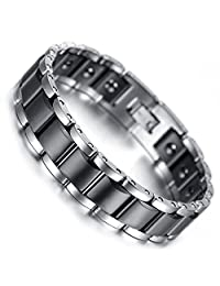 Bluebell Men's Jewelry Tungsten Link Bracelet Chocolate 7.7Inch