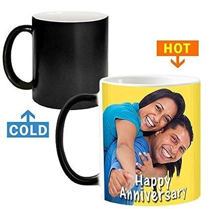 4351713e9c8 Gift World Ceramic Colour Changing Magic Personalized Photo Mug, 320ml  (Multicolour, Magic Mug)
