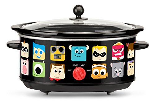 Disney Pixar Oval Slow Cooker, 7 quart, Black