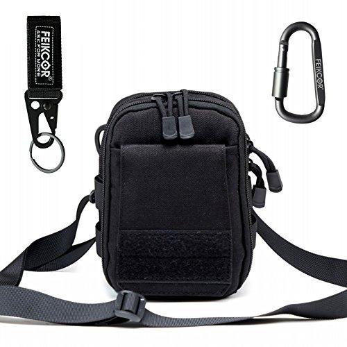 Multipurpose Tactical Nylon Molle Utility IFAK Pouch Waist Bag Military 1000D nylon Gadget Money EDC Pocket Security Carry Case for iPhone X 7 Plus Pixel XL S8 S7 Edge Moto (Black Cigarette Money Case)
