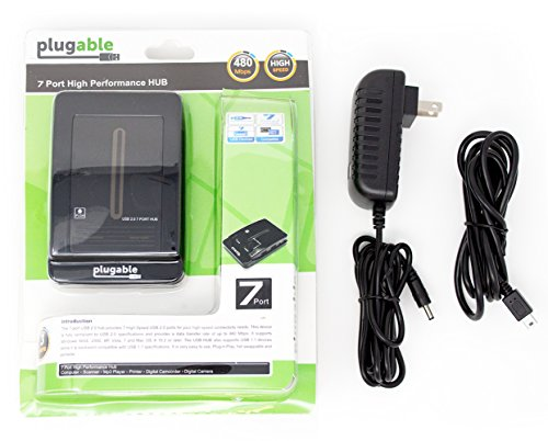 Plugable USB 2.0 7-Port High Speed Hub with 15W Power Adapter by Plugable (Image #6)
