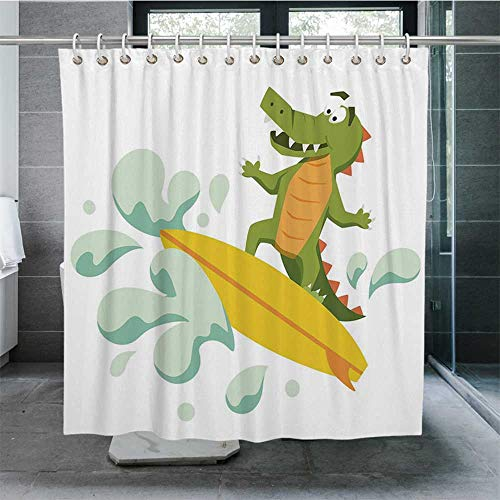 Nine City Ride The Wave Waterproof Shower Curtain,Cute for sale  Delivered anywhere in USA