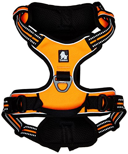 Chai's Choice Best Outdoor Adventure Dog Harness (Large, Orange)