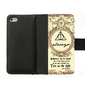 diy zhengFashion Hogwarts Marauder's Map Harry Potter Custom Diary Leather Cover Case for iPhone 6 Plus Case 5.5 Inch 5