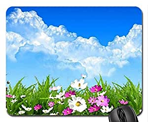 Spring Day Mouse Pad, Mousepad (Flowers Mouse Pad, Watercolor style)