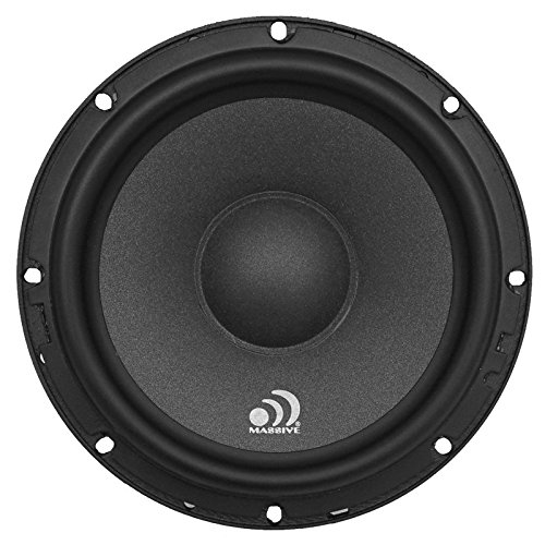 "Massive Audio Z6R - 6 Inch Single 6.5"" ZK6 Speaker, 200 Watts MAX / 100 Watts RMS, 4Ohm, ZK Series Component Car Audio Speaker"