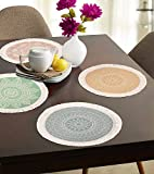 Mandala Round Placemats,13 Inch Cotton Table Mats