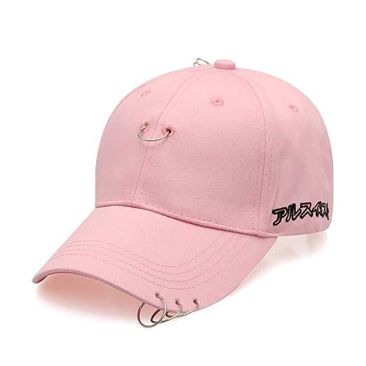 zlhcich Anillo de Acero Streamer Hat Gorra de Pareja aro de Moda ...