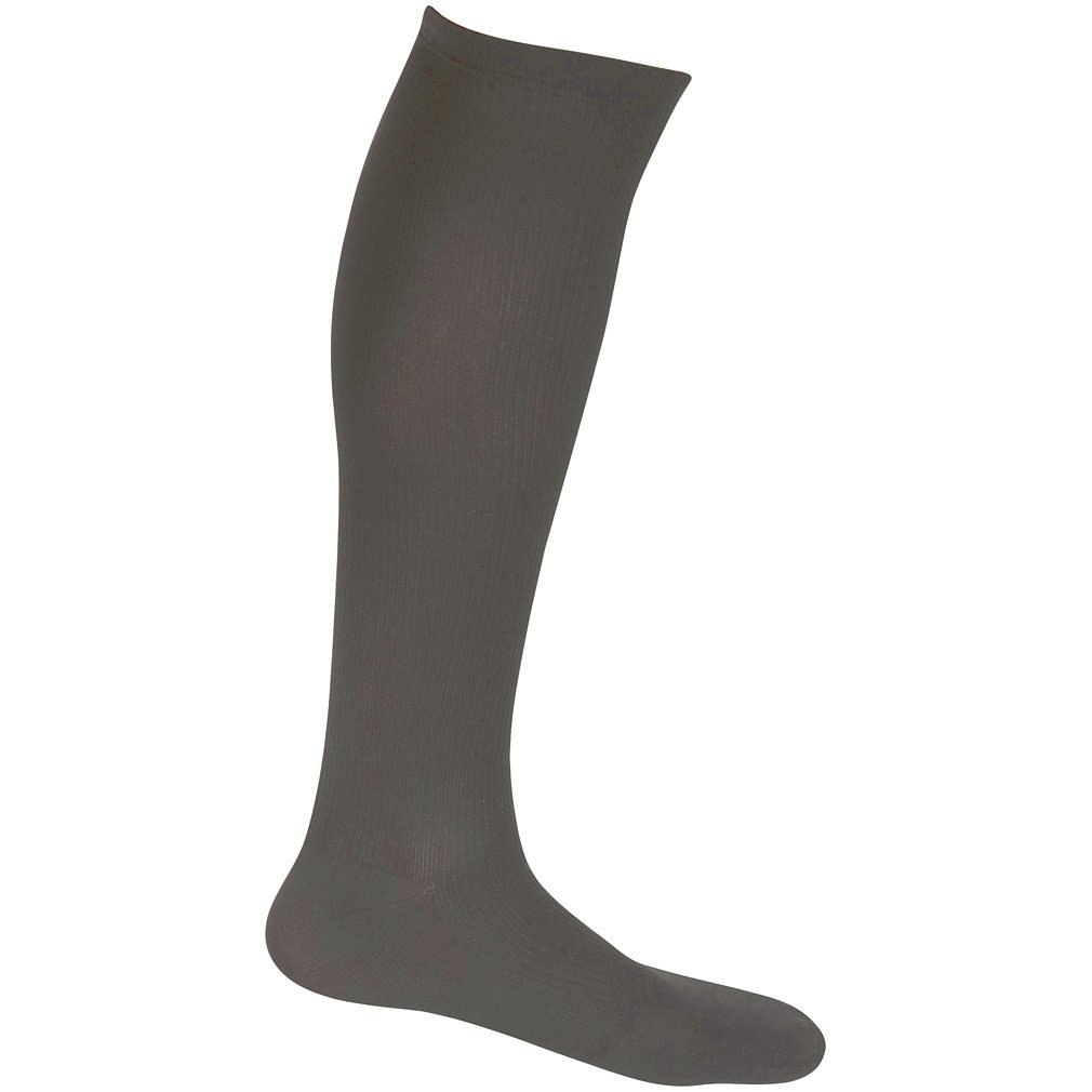 EvoNation Men's USA Made Graduated Compression Socks 20-30 mmHg Firm Pressure Medical Quality Knee High Orthopedic Support Stockings Hose - Best Comfort Fit, Circulation, Travel (Large, Gray) by EvoNation (Image #2)