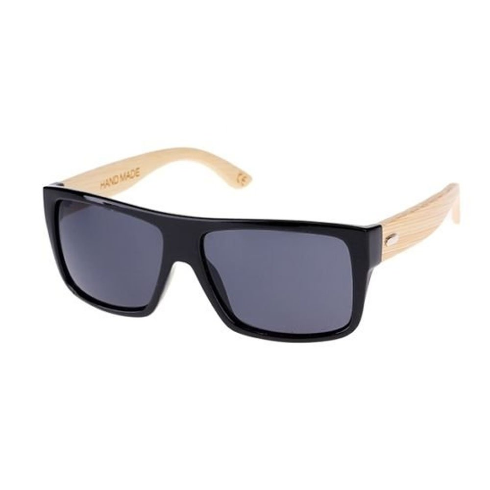 Ardisle - Jasper Finn Gafas de sol de madera hechas a mano del brazo de bambú para hombre Sombras UV400 Diseño único fresco de Madera Retro ...