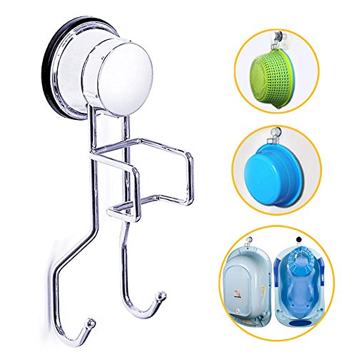 Vanity Washbasin - Baby Bath Tub Hooks Stainless Anti Rust Multifunctional Baby Bathtub Washbasin Strong Suction Cup Hooks Holder Clasp Heavy Hanger for Bathroom Kitchen (Silver-A)