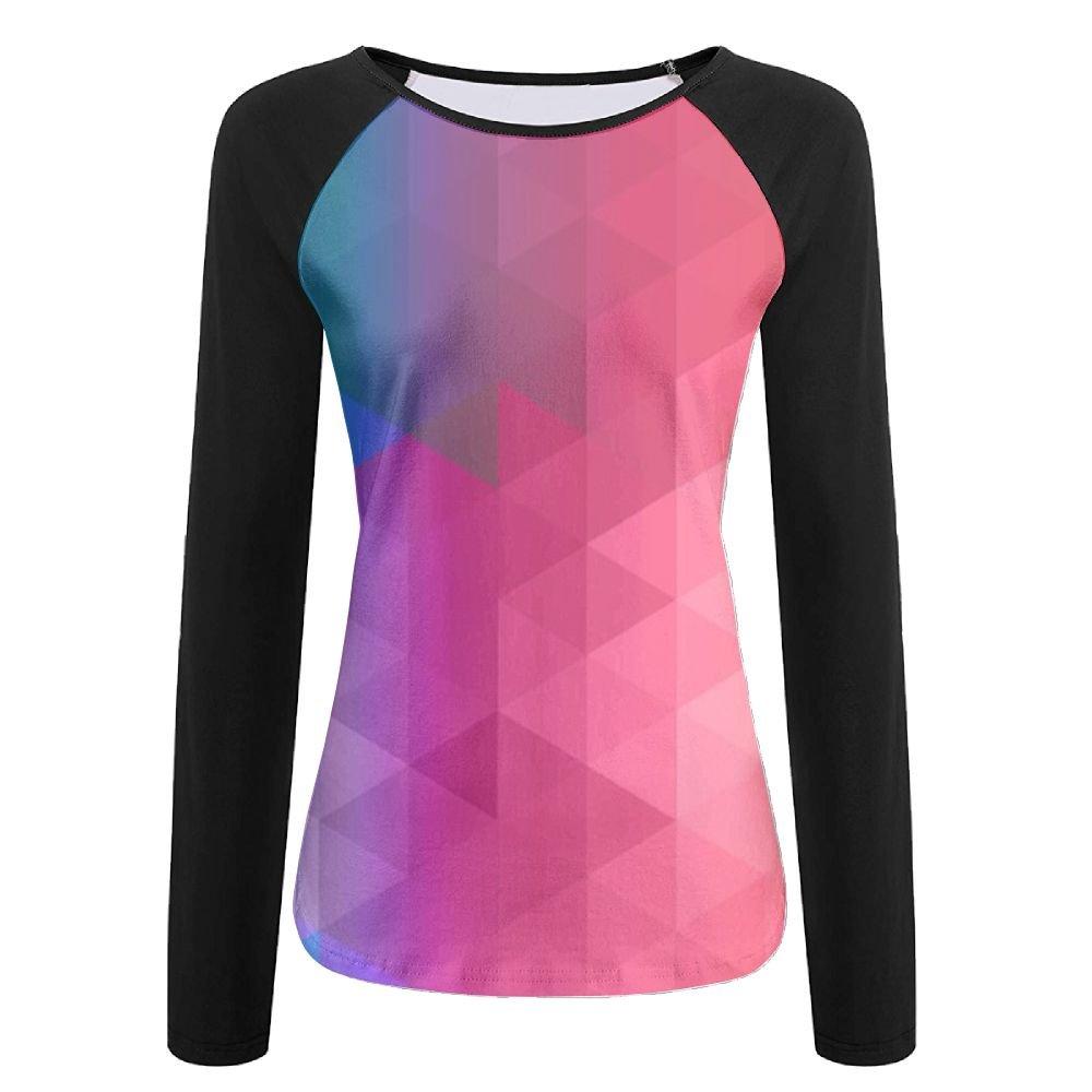 MASDUIH Womens 3D Print Color Diamond Pattern Long Sleeve Shirt Vintage  Baseball Shirts at Amazon Women's Clothing store: