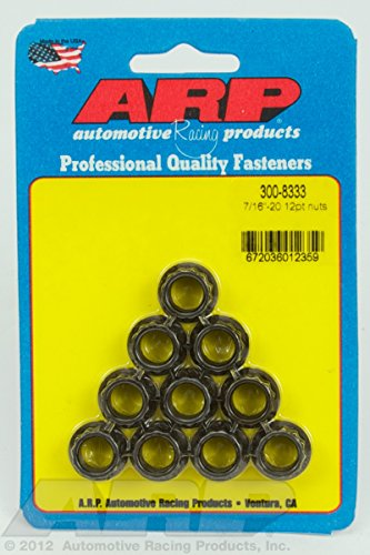 ARP 3008333 Stainless Steel 7/16-20 12-Point Nuts - Pack of 10, Model: 3008333, Outdoor&Repair Store by Hardware & Outdoor