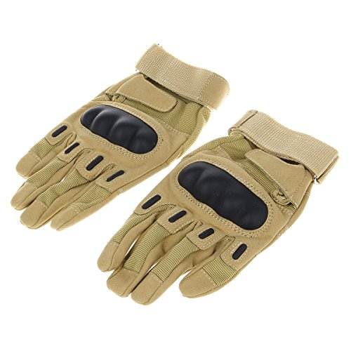 (Stylish Skid-proof Warm Full Finger Motorcycle Racing Gloves - Coyote Tan (Pair / Xl) )