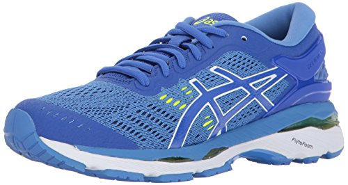 ASICS Womens Gel-Kayano 24 Running Shoe, Purple/Regatta Blue/White, 10 Medium US