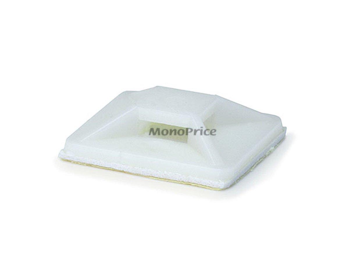 Monoprice Cable tie mounts 25x25(mm), 100pcs/Pack - white Monoprice Inc. 105860