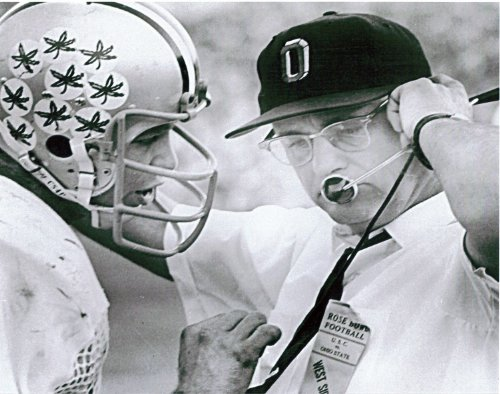 Woody Hayes and Rex Kern Ohio State 1969 Rose Bowl 8x10 Photo - Mint Condition