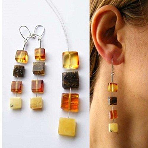 H/ängeohrringe Bernstein Silber 925 Bernsteinohrringe NEU Amber earrings