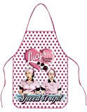 Johnson Smith Co I Love Lucy Chocolate Factory Speed It Up Pink Polka-Dot Kitchen Apron