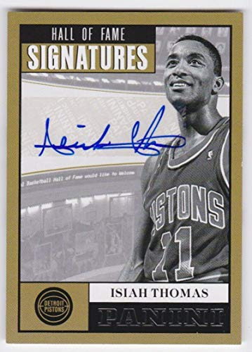 2012/13 Panini Isiah Thomas Hall Of Fame Signatures Auto Autograph Card #16 - Panini Certified - Basketball Slabbed Autographed Cards