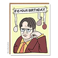 It Is Your Birthday Yellow The Office Dwight Schrute Birthday Card