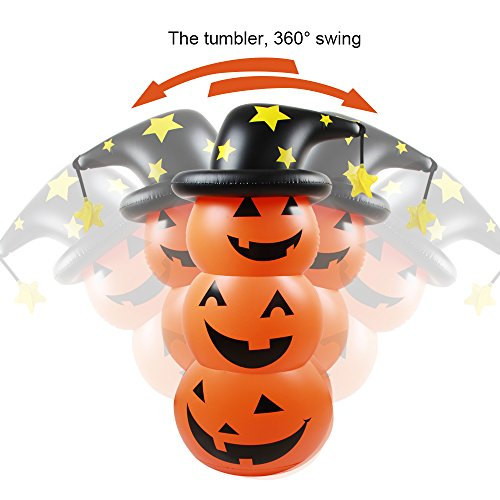 Halloween Pumpkin Decorations-Pumpkin Inflatable Roly-Poly Decoration For Indoor Outdoor Fairy Courtyard Garden Christmas Lawn Ambiance Party 55'' (yellow) (Creative Ideas For Halloween Pumpkins)