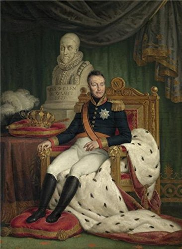 The Perfect Effect Canvas Of Oil Painting 'Mattheus Ignatius Van Bree - King Willem I, 19th Century' ,size: 12x16 Inch / 30x42 Cm ,this High Resolution Art Decorative Canvas Prints Is Fit For Wall Art Artwork And Home Decoration And Gifts
