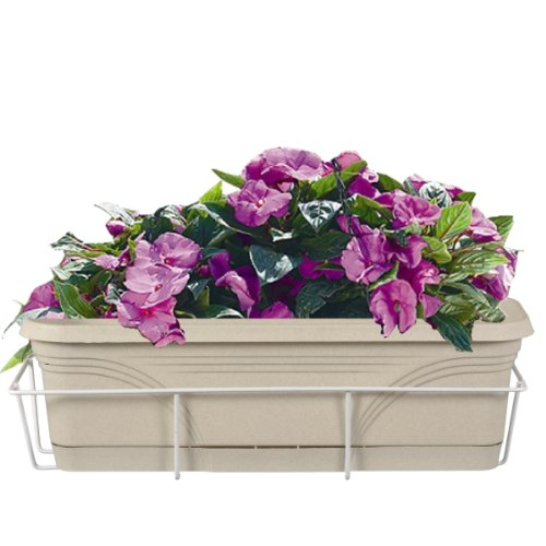 CobraCo 24-Inch White Basic Adjustable Flower Box Holder F2426-W