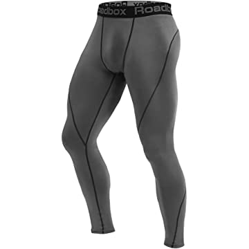 Roadbox Men's Compression Pants - Tights Base Layer Cool Dry Leggings for Sports