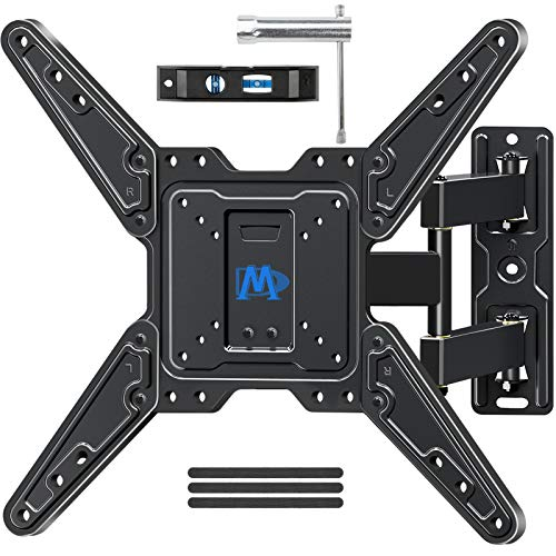 Mounting Dream Full Motion TV Wall Mount Swivel and Tilt TV Bracket with Articulating Arms for Most 17-55 Inches LED, LCD TV, TV Mount up to VESA 400x400mm and 77 lbs
