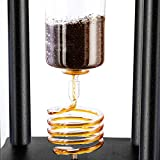 Espresso Parts Yama Cold Brew Coffee Maker With Ice Slow Drip Technology I Coldbrew Tower Machine I Made in Japan, Large Capacity 25 Cups (100oz), Brown Wood Frame