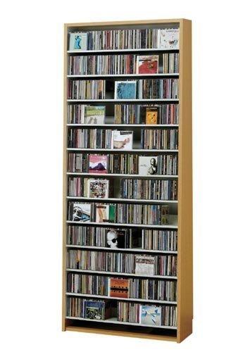 924枚収納 CD屋さんのCD/DVDラック 幅80cm インデックスプレート10枚付き (ナチュラル) B01IN534II ナチュラル