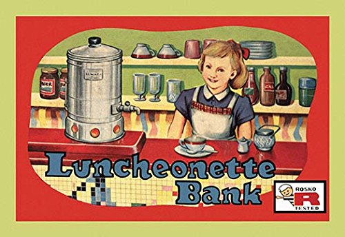Buyenlarge Luncheonette Bank Paper Poster, 18