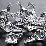 120+ Pieces Clear Acrylic Chandelier Drops / Pendant for Table Centerpiece Decorations, Wedding Decorations, Bridal Shower Decorations