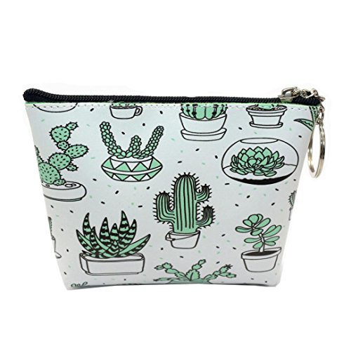 FitfulVan Clearance! Hot sale! Bags, FitfulVan Women Girls Printing Flower Snacks Coin Purse Wallet Bag Change Pouch Key Holder (B)