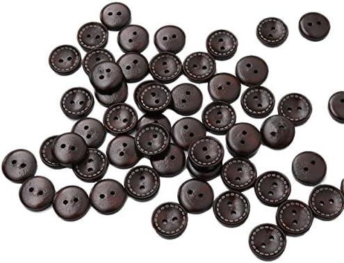 Youkara Botones Negros Botones de Madera Posavasos con Botones Mangas de Camisa Puños de Vestir Botones: Amazon.es: Hogar