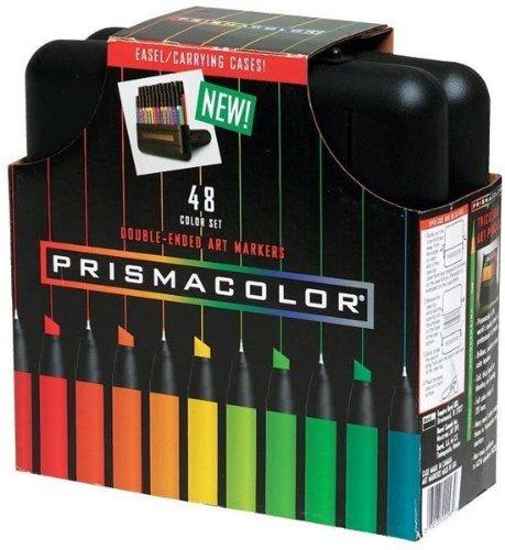 48 Color Double End Marker Set Prismacolor 1-Box Set w/Case