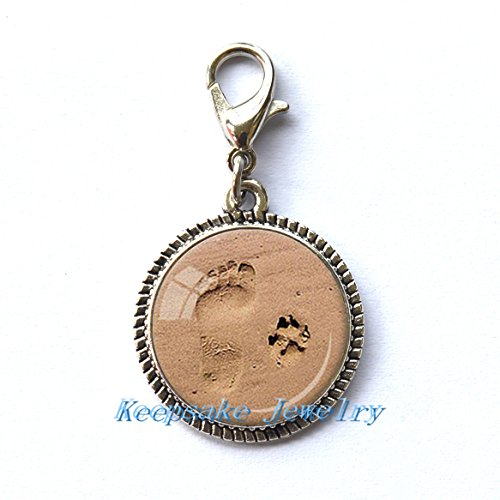 Print Charming Dog (Modern Fashion Zipper Pull,Beautiful Zipper Pull ,Footprint and Dog Paw Print Zipper Pull Charming Style Cabochon Glass Zipper Pull Dog Lovers-RC211)