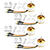 QWinOut A2212 1000KV Brushless Outrunner Motor 13T with 3.5mm Male Banana Bullet for RC DIY Aircraft Multi-Copter Quadcopter Drone (4pcs)