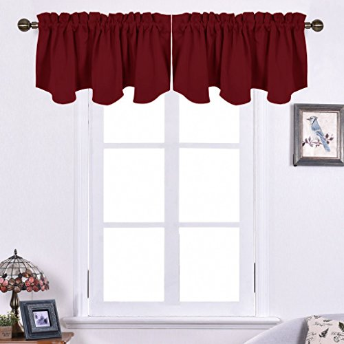 NICETOWN Kitchen Blackout Window Valances - 52