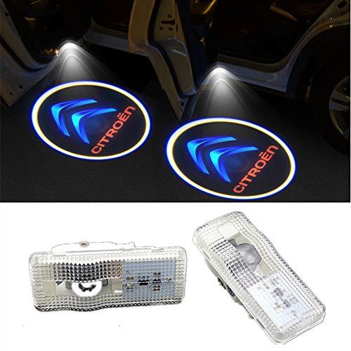 QJZoncuji 2 X Cree Car Door Light Ghost Shadow Light Logo Projector