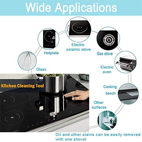 Floor Adhesive Sticker Glue Glass /& Ceramic Hob Scraper Oven Cooker Hob Cleaner Cleaning Scraper with 10 Replacement Blades for Removing Wallpaper Paint