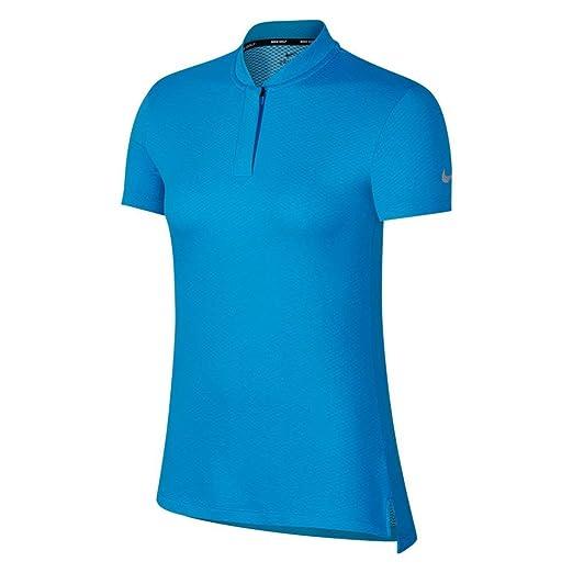 299c22a4f Nike Dri Fit Shortsleeve Blade Collar Golf Polo 2018 Women Equator  Blue/Flat Silver X